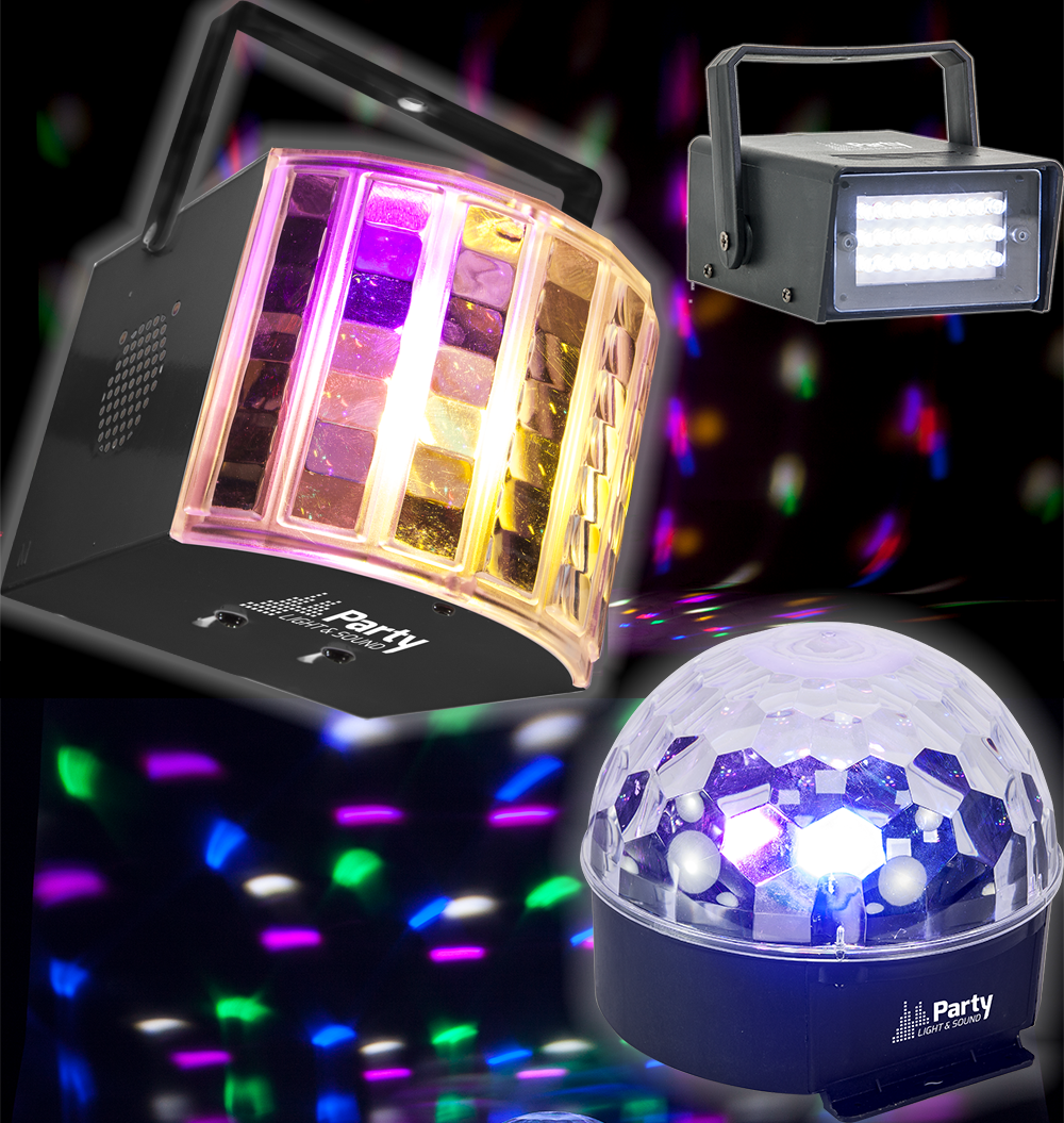Party Light PARTY-3PACK 3 delig led lichteffect set