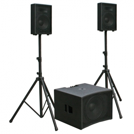 JB Systems CPX-1510 CPX1510 actieve 2.1 speaker subwoofer set