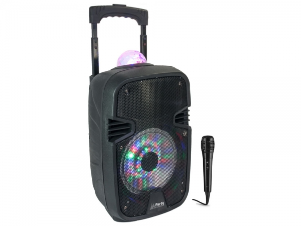 "Party Sound PARTY-7ASTRO mobiele speaker 8"" 300W met Bluetooth, USB en accu"