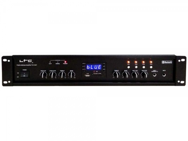 LTC Audio PAA150BT 4 zone 100V versterker met Bluetooth en USB/SD MP3 speler