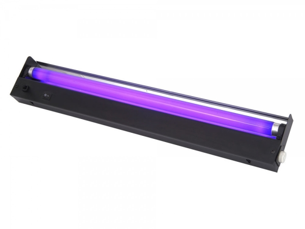 Qtx BL600 blacklight ultraviolet TL armatuur 0.6 meter + 20W UV lamp 600mm
