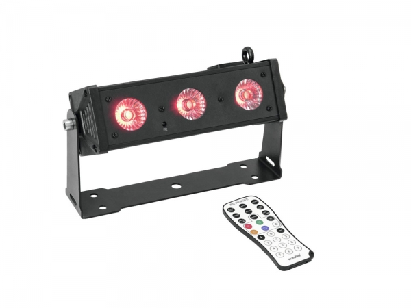 Ibiza Light LEDBAR3-RC RGBW LED bar 3x 8W DMX met afstandsbediening