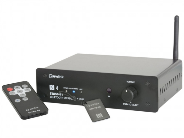 Qtx Sound STA50-BT digitale stereo versterker met bluetooth NFC