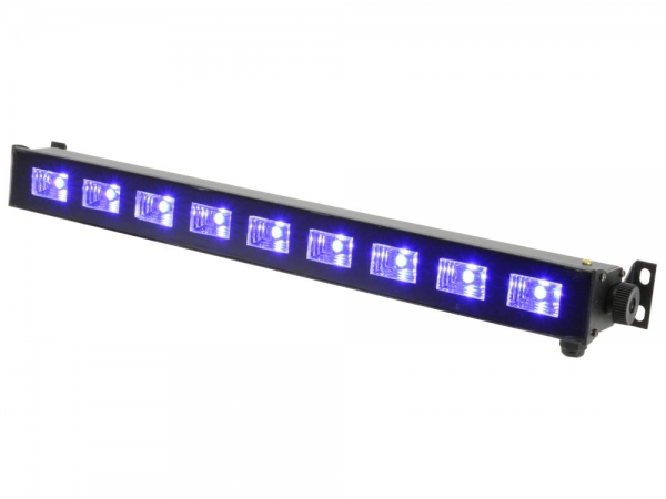 Qtx UVB-9 blacklight ultraviolet LED bar 9x 3W UV leds