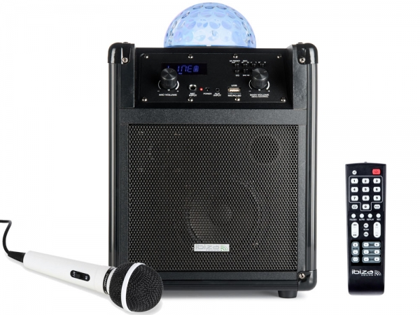 Ibiza Sound KUBE60-BK mobiele bluetooth speaker met astro LED effect