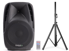 Ibiza Sound BT15A actieve bluetooth luidspreker box 1000W + Gratis speakerstatief