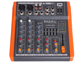 Ibiza Sound MX401 4 kanaals stage mixer studio mengpaneel