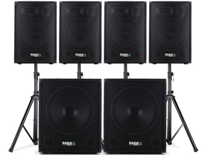 IBIZA CUBE1512QUAD Actieve 4.2 speakerset 4000W
