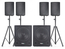 IBIZA CUBE1815QUAD Actieve 4.2 speakerset 5600W