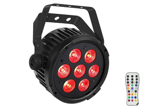 Ibiza Light PARLED712IR LED PAR spot 7x 12W RGBWA-UV