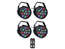 Ibiza Light 4x 12W RGBW LED PAR spots 3-in-1 wash effect DMX met afstandsbediening