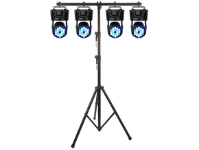 Party Light 4x 56W RGBW LED Movinghead Wash effect DMX + lichtstatief 3 meter