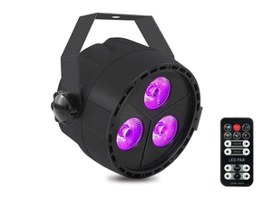 Qtx Light PAR12 LED PAR spot 3x 4W RGBW COB LEDs