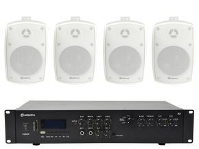 Adastra indoor / outdoor speakerset 2 + A2 bluetooth versterker USB/SD 400W