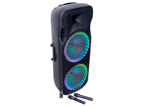 "Party Sound PARTY-215RGB MKII mobiele bluetooth PA luidspreker box 2x 15"" 1800W"