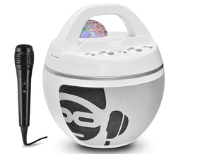 iDance Audio Party Ball BB10WH met bluetooth en discobol + GRATIS microfoon