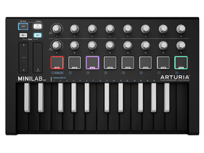 Arturia Minilab MKII Inverted MIDI keyboard controller incl. Ableton software